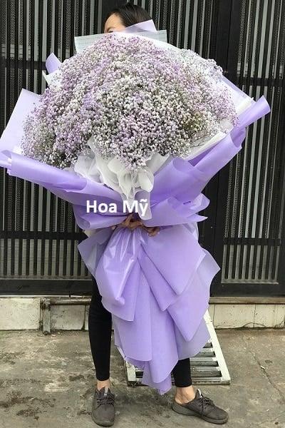 hoa bi tím bó khổng lồ