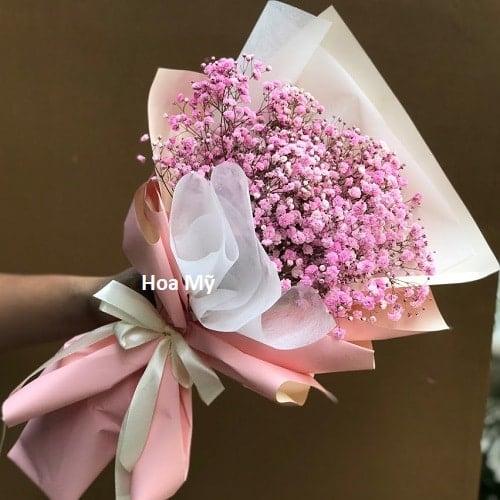 Bó Hoa Baby Nhỏ Mini Màu Hồng -Giá Rẻ[Hoa Bó Sự Kiện]