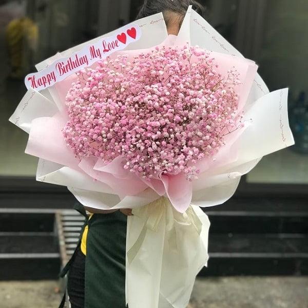 bó hoa baby hồng giá rẻ