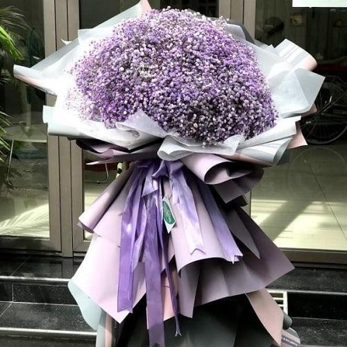 bó hoa baby tím khổng lồ