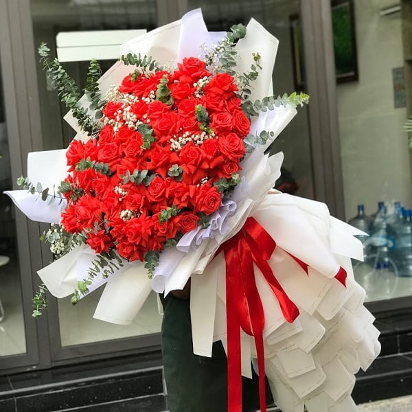 bó hoa hồng đỏ