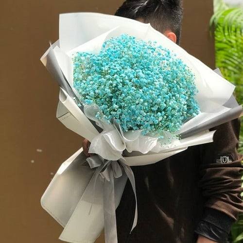 bó hoa baby xanh giá rẻ