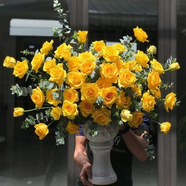 lẵng hoa hồng vàng đẹp