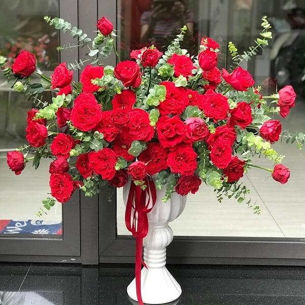 giỏ hoa hồng đỏ ohara