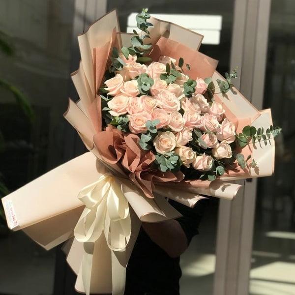 bó hoa hồng đơn giản