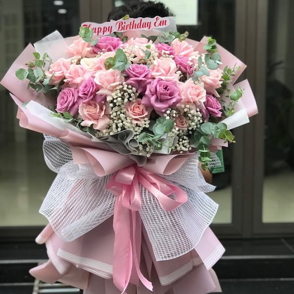 Bó hoa hồng to