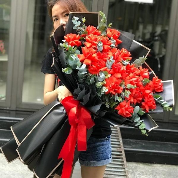 bó bông hồng