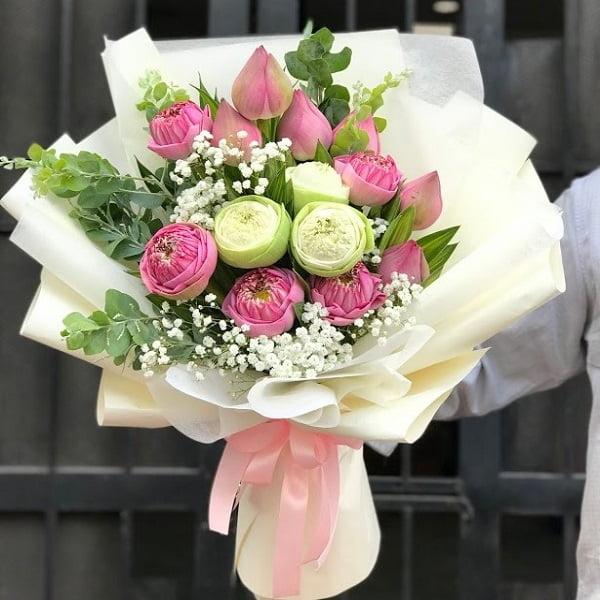 hoa sen bó