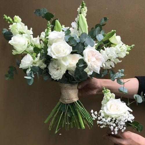 hoa cưới cô dâu