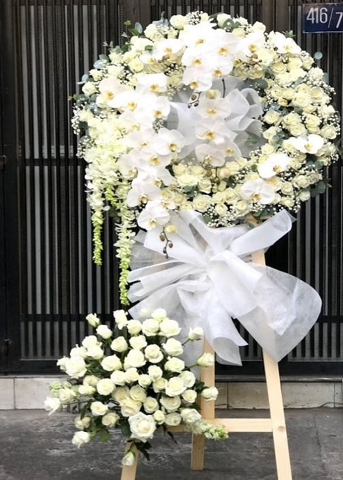hoa chia buồn đẹp