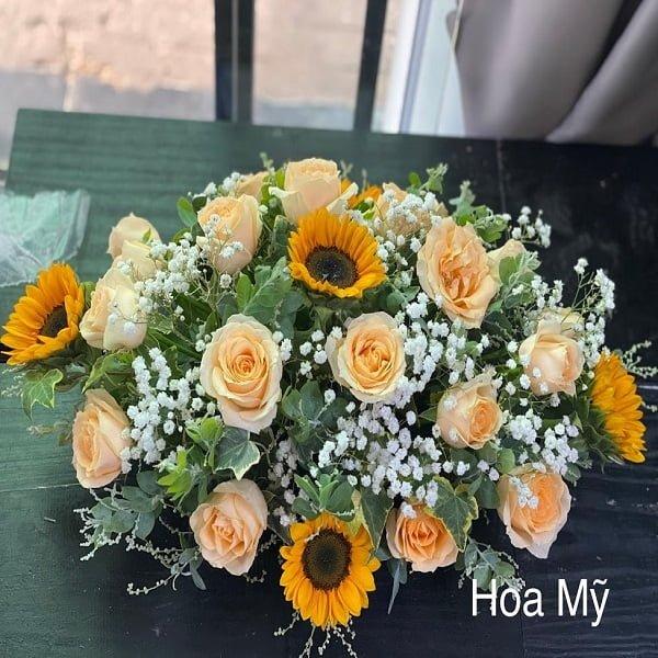 hoa để bàn dài đẹp