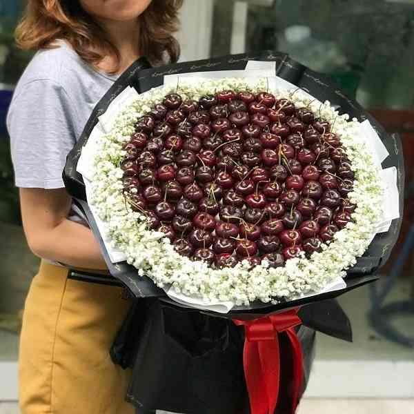 bó hoa 99 trái cherry